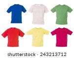 group of t shirts isolated on... | Shutterstock . vector #243213712
