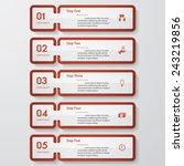 design clean number banners... | Shutterstock .eps vector #243219856