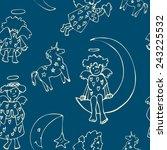 angels pattern. seamless vector ... | Shutterstock .eps vector #243225532