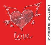 love heart | Shutterstock .eps vector #243233575