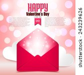 valentine's day postcard with... | Shutterstock .eps vector #243239626