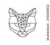 vector hipster geometric head... | Shutterstock .eps vector #243242812