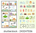elements of the modern city of... | Shutterstock .eps vector #243247036