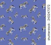 zebra seamless vector pattern | Shutterstock .eps vector #243247372