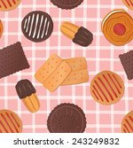 seamless pattern with cakes | Shutterstock .eps vector #243249832