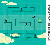 finding the path to success... | Shutterstock .eps vector #243250816