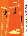 climbing the corporate ladder... | Shutterstock .eps vector #243253846