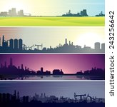 set of industrial backgrounds... | Shutterstock .eps vector #243256642