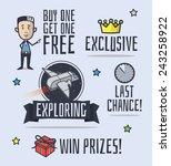 various promo cartoon elements. ... | Shutterstock .eps vector #243258922