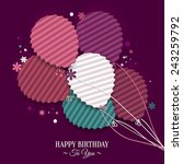 birthday wish with balloons in... | Shutterstock .eps vector #243259792