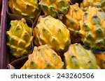 Small photo of African horned cucumber with yellow skin and spikes