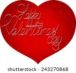 red heart with roses background | Shutterstock .eps vector #243270868
