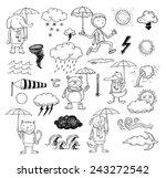 pet weather elements  vector... | Shutterstock .eps vector #243272542