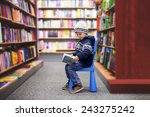 Adorable Little Boy  Sitting I...