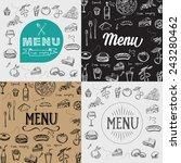 restaurant cafe menu  template... | Shutterstock .eps vector #243280462