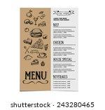 restaurant cafe menu  template... | Shutterstock .eps vector #243280465