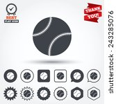baseball ball sign icon. sport... | Shutterstock .eps vector #243285076