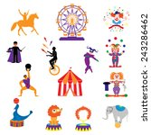 circus  vector. amusement park... | Shutterstock .eps vector #243286462
