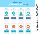 mobile app wireframe ui kit 10. ...