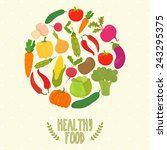 circle from vegetables  healthy ... | Shutterstock .eps vector #243295375