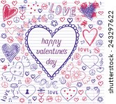 greeting card for valentine's...   Shutterstock .eps vector #243297622
