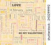 valentine's day word seamless... | Shutterstock .eps vector #243299992