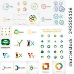 logo collection  abstract... | Shutterstock .eps vector #243303136