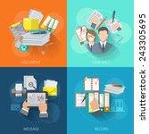 document design concept set... | Shutterstock .eps vector #243305695