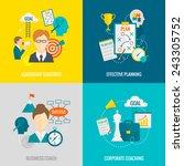 coaching business design... | Shutterstock .eps vector #243305752