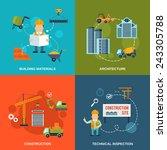 construction flat icons set... | Shutterstock .eps vector #243305788