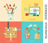 supermarket design concept set... | Shutterstock .eps vector #243306232