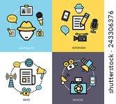 news reporter design concept... | Shutterstock .eps vector #243306376