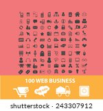 100 web business icons  signs ... | Shutterstock .eps vector #243307912