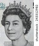 Queen Elizabeth Ii Portrait On...
