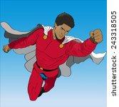 vector hand drawn flying... | Shutterstock .eps vector #243318505