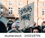 strasbourg  france   11 jan ...   Shutterstock . vector #243318796