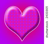 purple and pink heart with... | Shutterstock . vector #2433305