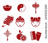 chinese new year icon | Shutterstock .eps vector #243332185