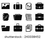 portfolio icons set | Shutterstock .eps vector #243338452