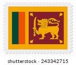 illustration sri lanka flag... | Shutterstock .eps vector #243342715