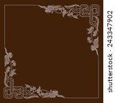 vector vintage border frame | Shutterstock .eps vector #243347902