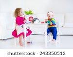 two happy children  cute... | Shutterstock . vector #243350512