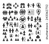 people icons vector set  people ... | Shutterstock .eps vector #243362752