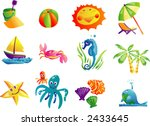 summer beach travel clip art 01 ... | Shutterstock .eps vector #2433645