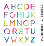 the bright font consisting of... | Shutterstock .eps vector #243365932