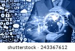 internet concept | Shutterstock . vector #243367612