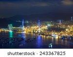stonecutters bridge  hong kong | Shutterstock . vector #243367825
