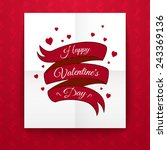 valentine's day typography on... | Shutterstock .eps vector #243369136