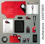 stationery set design identity... | Shutterstock .eps vector #243373855