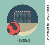 handball. flat icon  | Shutterstock .eps vector #243375556